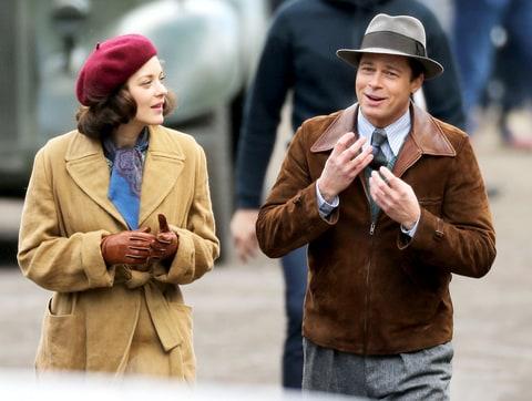 Prima intalnire a Angelinei Jolie cu Marion Cotillard pe platourile de filmare, inainte de-a anunta divortul de Brad Pitt
