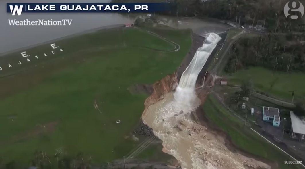Un baraj din Puerto Rico s-a rupt după uragan. Locuitorii sunt evacuaţi. VIDEO