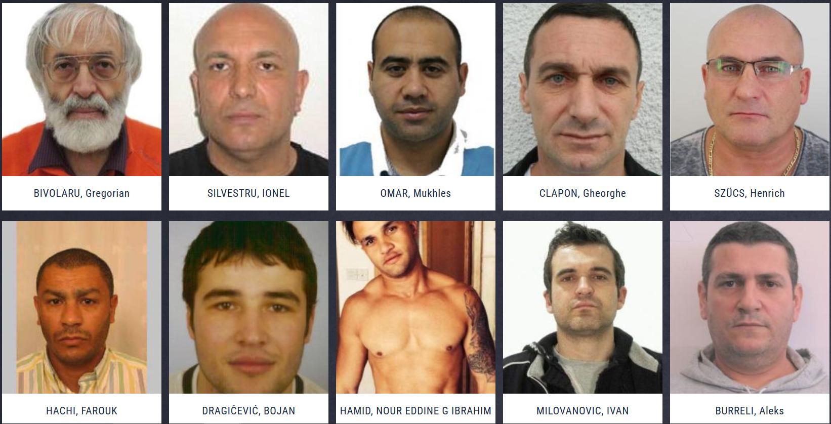Patru români, printre mai căutaţi infractori din Europa. Lista