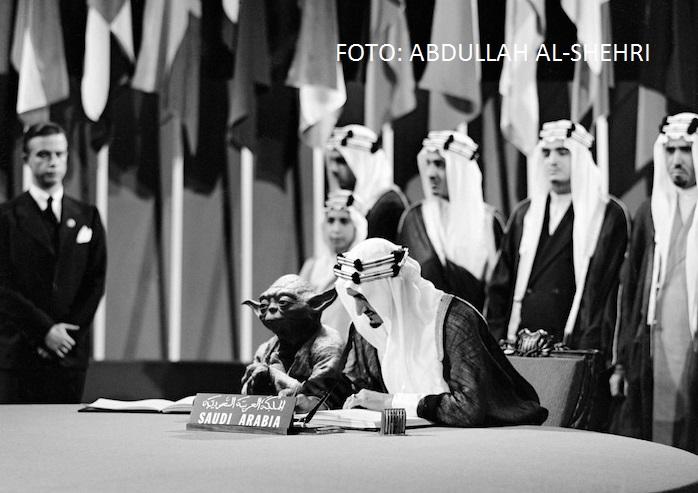 Arabia Saudită a publicat un manual în care regele stă la masă cu Yoda