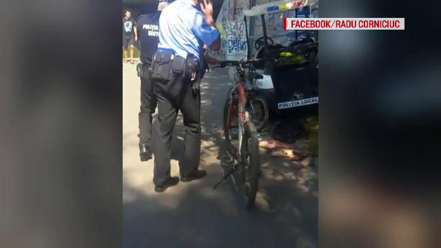 """Polițist filmat când lovește un băiat, în parcul IOR: """"I-a dat mare pumn în ficat"""". VIDEO"""