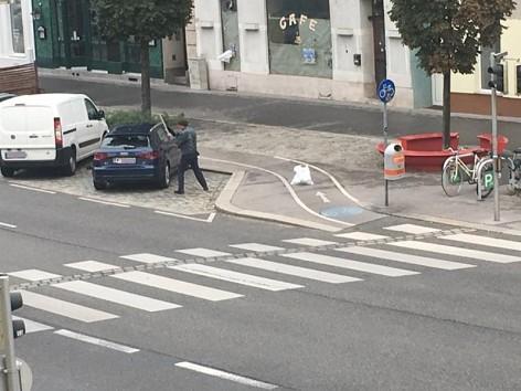 Român arestat la Viena după ce a vandalizat un autoturism şi a ameninţat poliţişti cu un cuţit