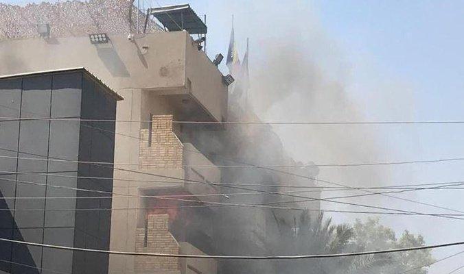 Incendiu la Ambasada României din Bagdad. Un angajat a fost rănit