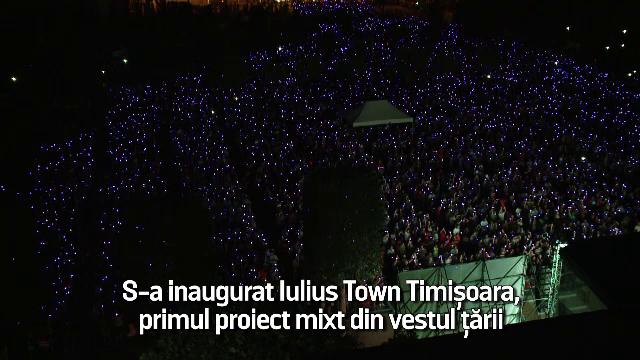 (P) Timişoara, oraşul luminii, la inaugurarea Iulius Town. Un nou record mondial, stabilit