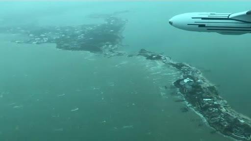 Uraganul Dorian. Insula cu 50.000 de oameni acoperită de ape în proporție de 70%. Filmare aeriană cu zona devastată