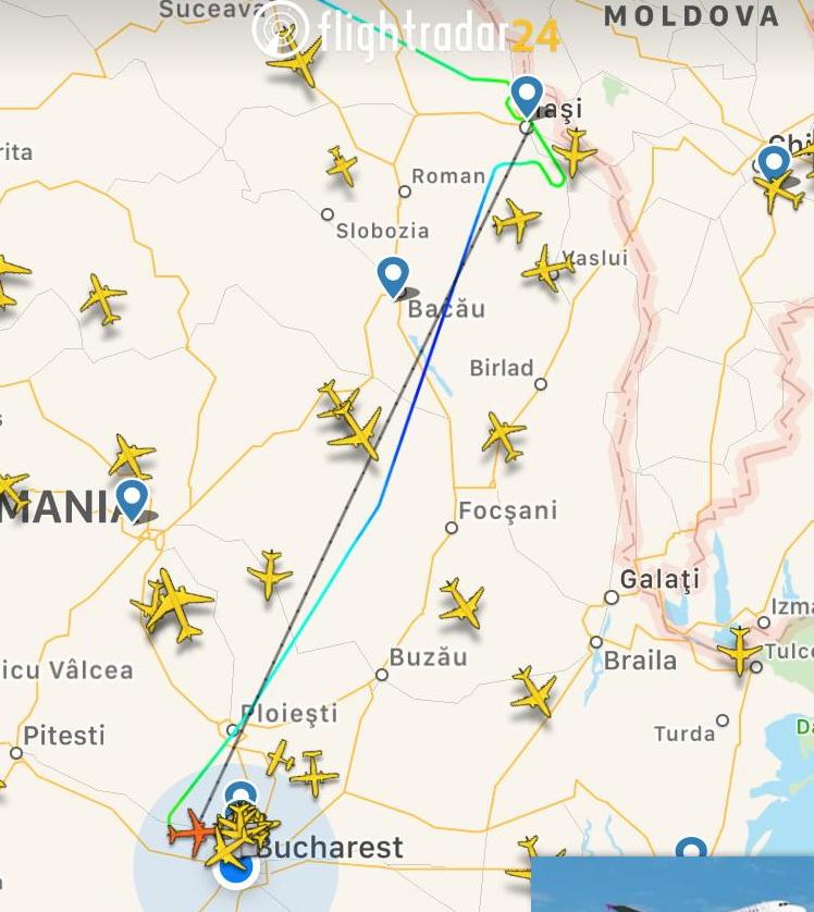 Un avion Wizz Air, care zbura pe ruta Luton-Iași, a aterizat de urgență pe Otopeni
