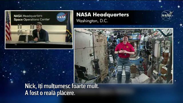 Discuție inedită între Brad Pitt şi un astronaut american aflat la bordul ISS