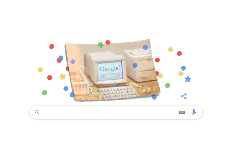 Google marchează 21 de ani de la lansare printr-un Doodle special