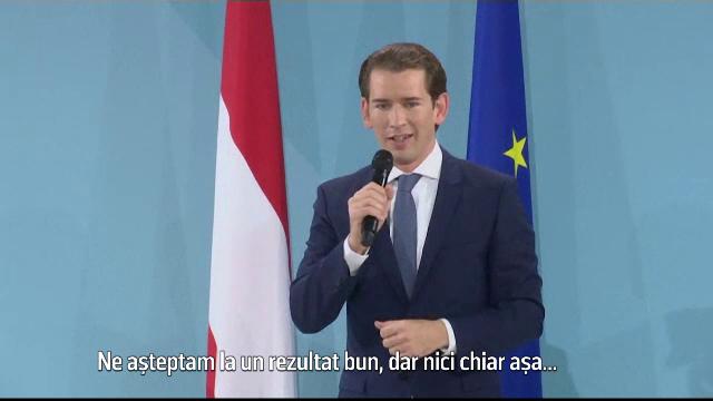 Sebastian Kurz a câştigat pariul în Austria. S-ar putea întoarce în fruntea cancelariei