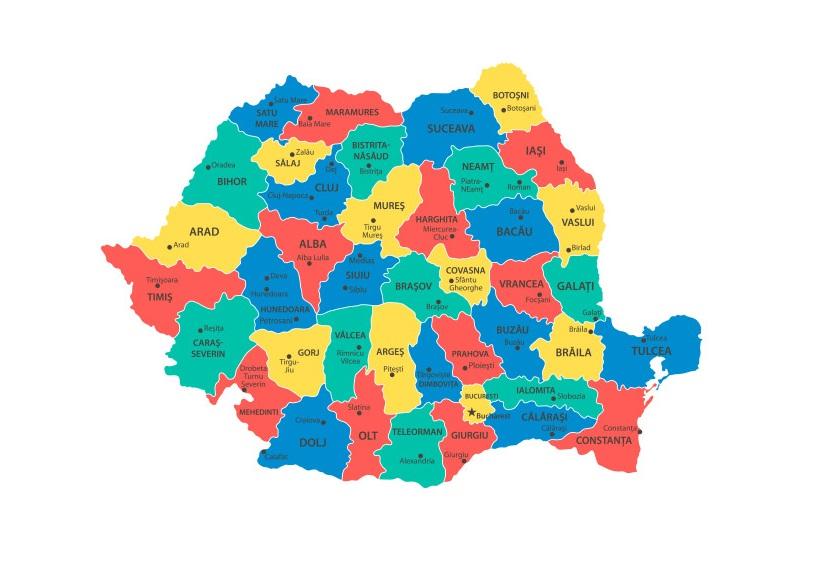 Cele 5 județe fără cazuri noi de COVID-19. Rata de infectare continuă să scadă în București