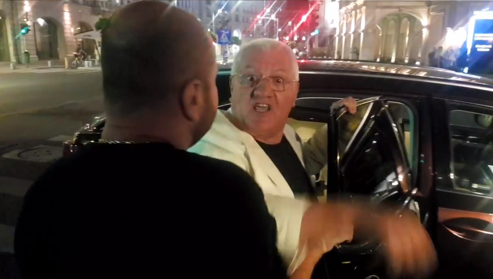 VIDEO. Dumitru Dragomir a sărit la bătaie, după ce a fost jignit de un protestatar