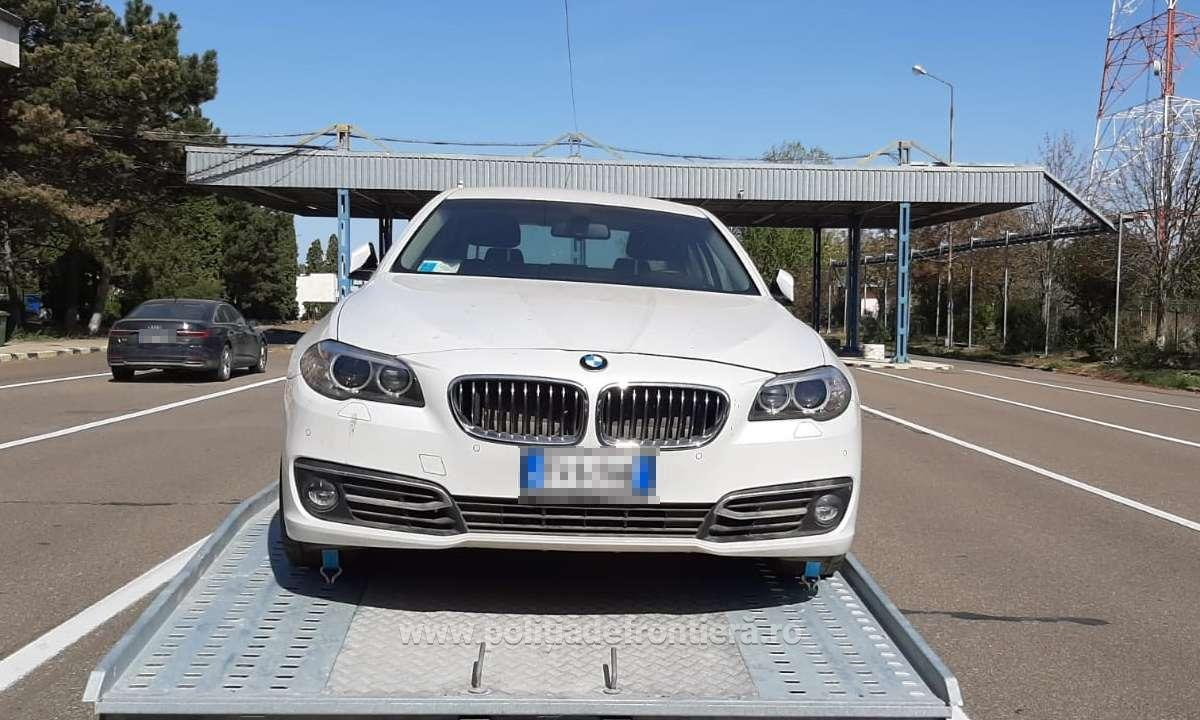 Ce a pățit un moldovean care transporta un BMW pe platformă. Surpriză totală la Albița