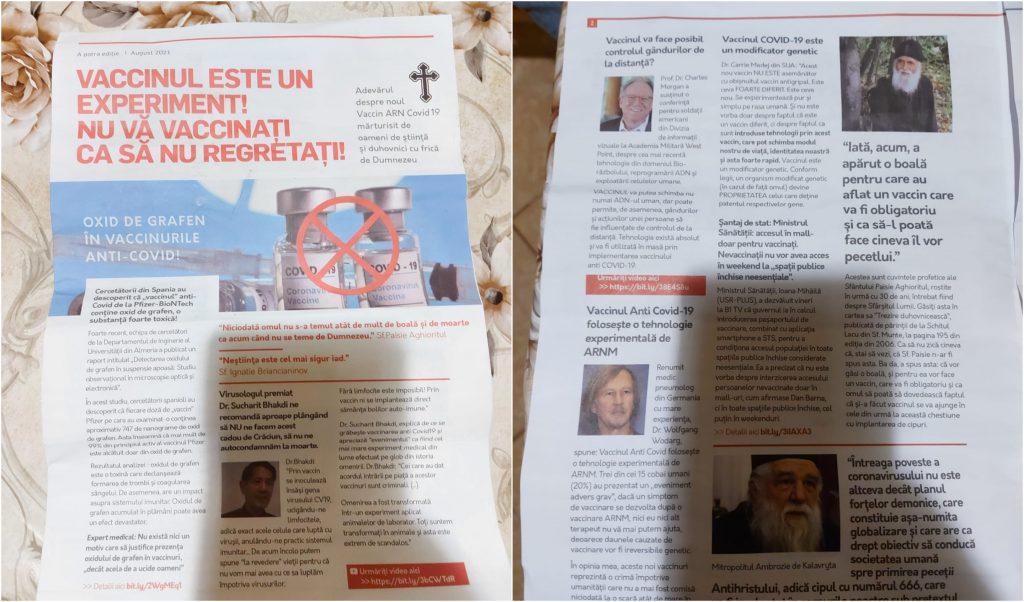 Dosar penal pentru distribuire de informații false în Alba după apariția mai multor reviste anti-vaccin