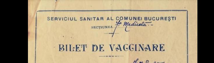 Cum arăta o adeverință de vaccinare acum 111 ani