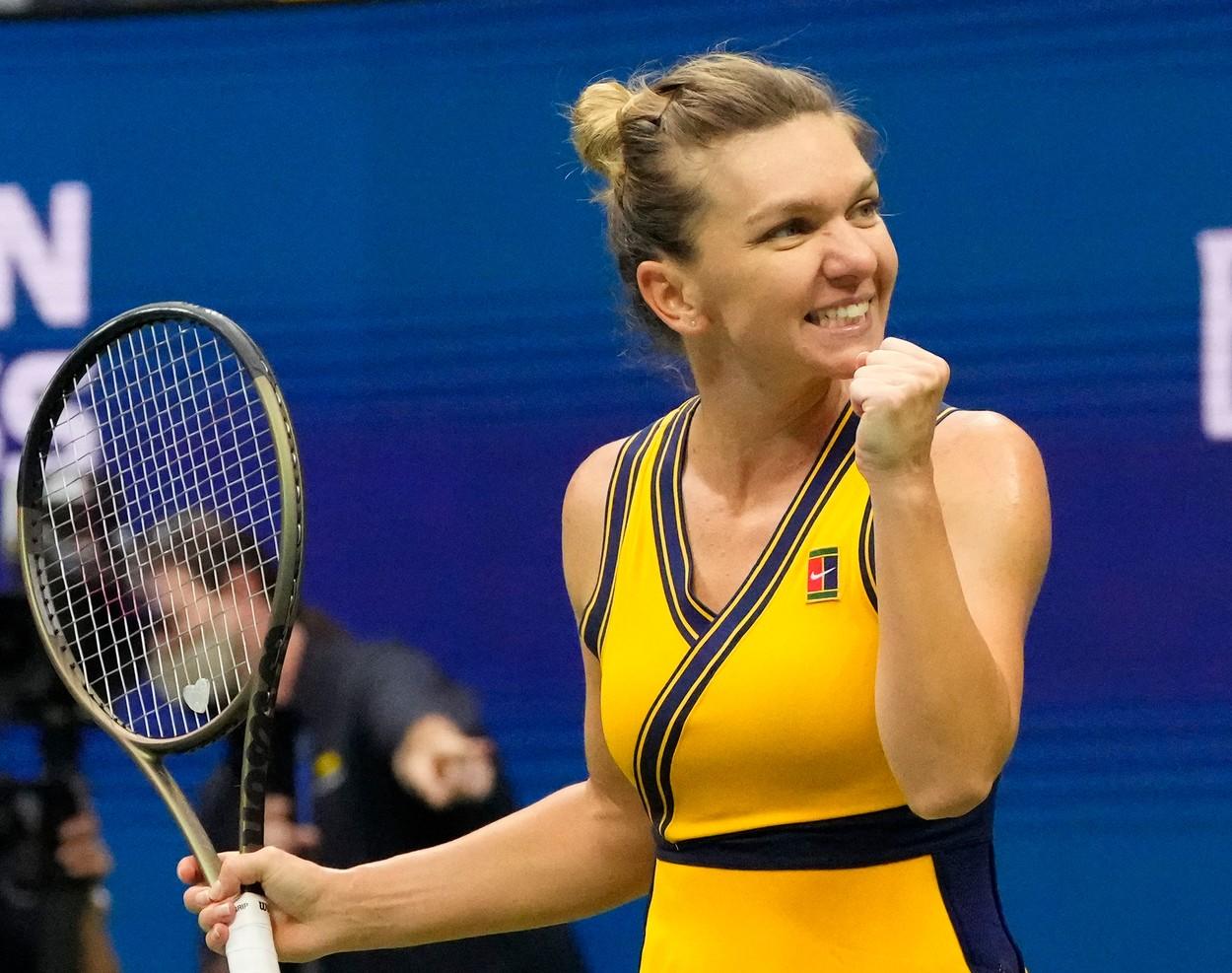 Simona Halep s-a calificat în optimile de finală la US Open. A învins-o pe Rîbakina după o luptă dură