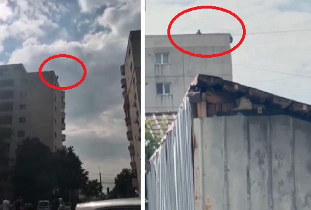Video. Un bărbat s-a aruncat în gol de pe un bloc cu opt etaje din Ploiești