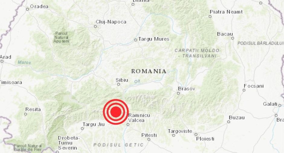 Cutremur de 3,5 grade, în Vâlcea. S-a produs la o adâncime de doar 2 km