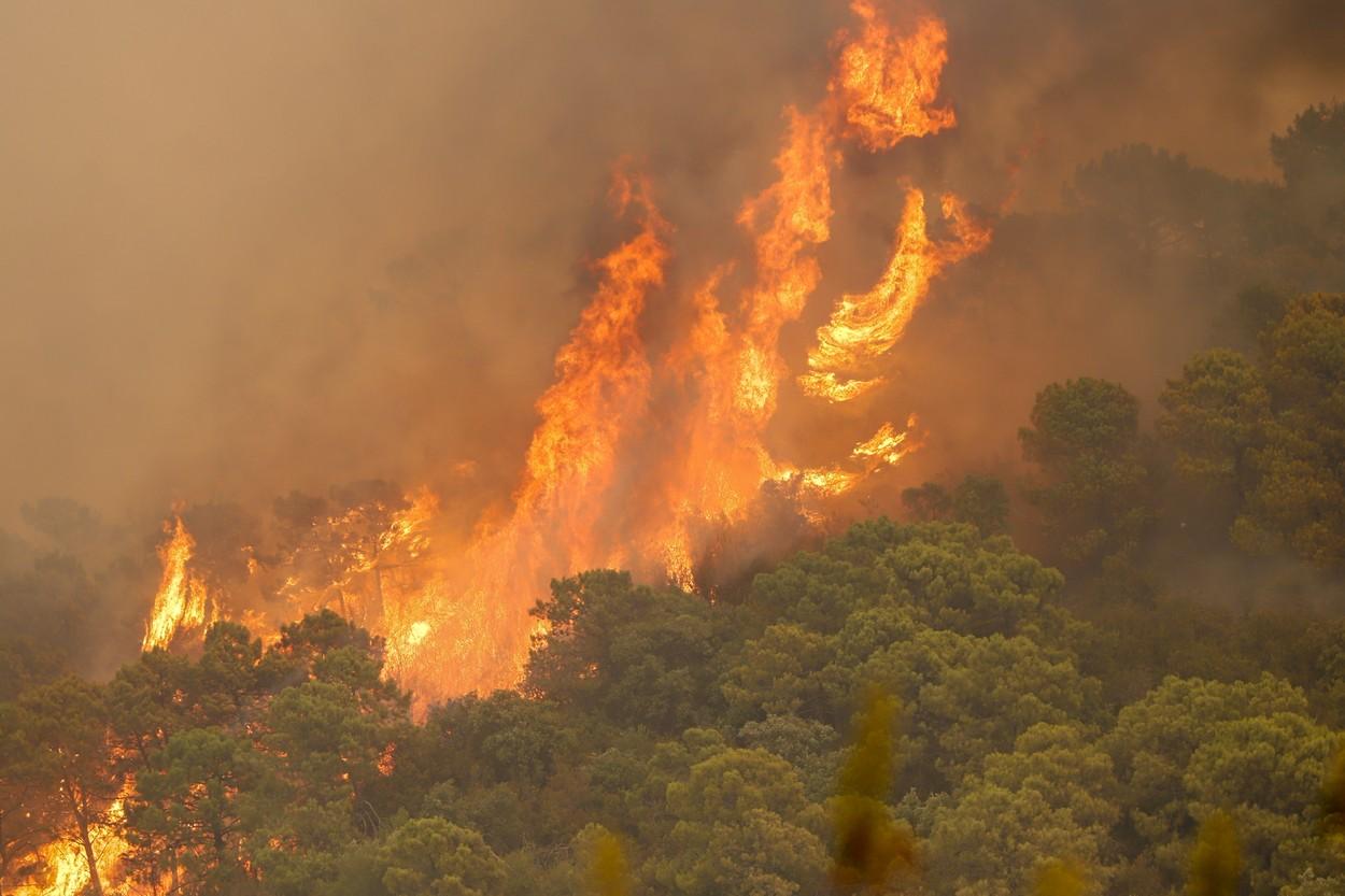 VIDEO. Incendiu devastator în Spania. Un pompier a murit, iar cel puțin 1.000 de persoane au fost evacuate