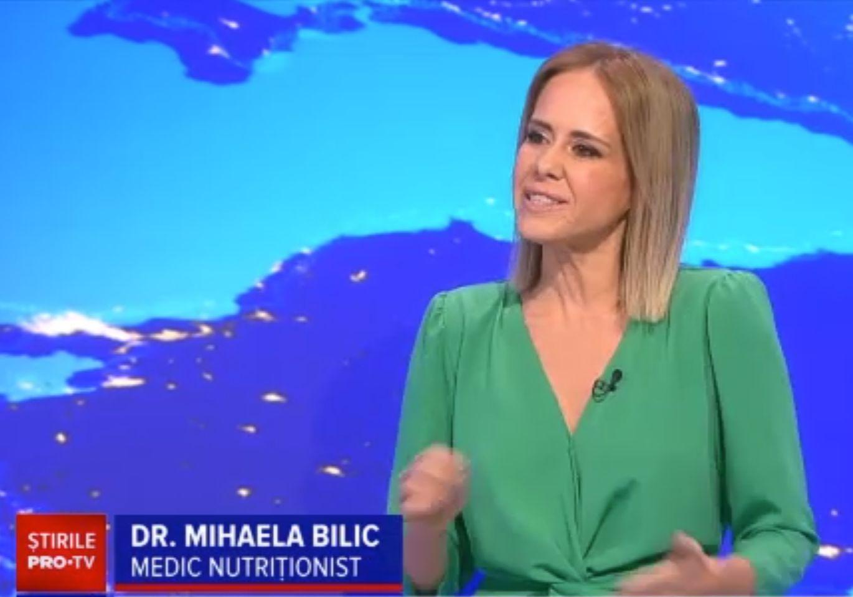 """""""Doctor de bine"""" cu Mihaela Bilic, este difuzată zilnic la Știrile PROTV. """"Educația se face prin televizor în România"""""""
