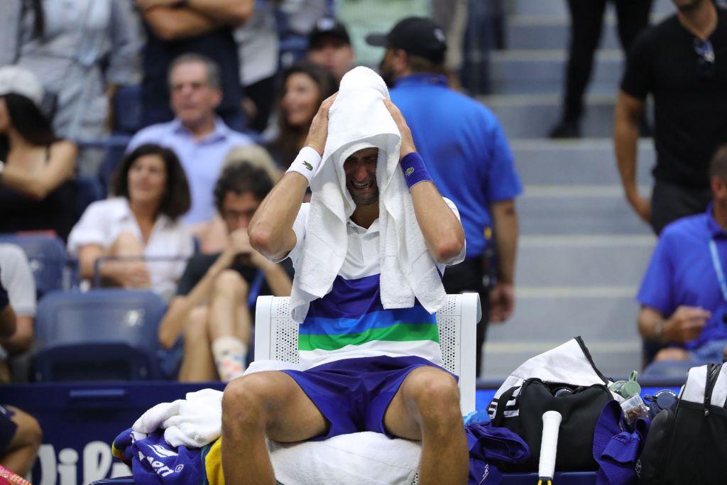 Imagini impresionante: Djokovic a plâns în hohote când a realizat că va pierde finala de la US Open VIDEO