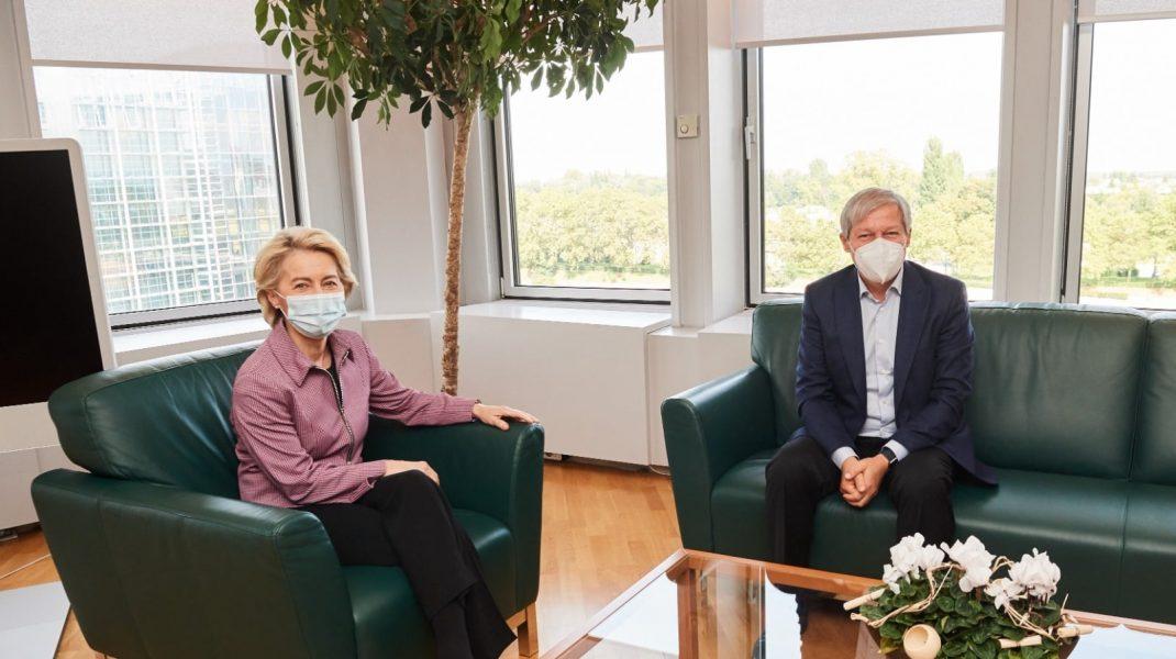 """Dacian Cioloş s-a întâlnit cu Ursula von der Leyen: """"PNRR va fi aprobat în curând"""""""