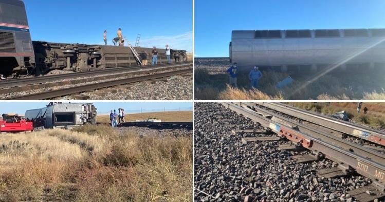VIDEO. Un tren în care se aflau peste 150 de persoane a deraiat în SUA. Cel puțin trei oameni au murit