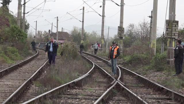 O bătrână a fost spulberată de tren. Femeia încerca să își gonească curcile de pe calea ferată