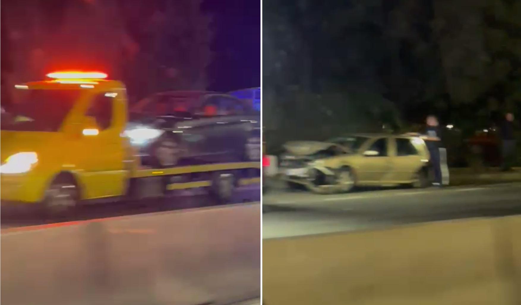 VIDEO. Accident cu patru mașini, la Otopeni. O persoană a fost rănită ușor