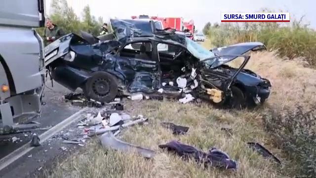 Tragedie pe Drumul European 584 în apropiere de Brăila. Doi bărbați și-au pierdut viața