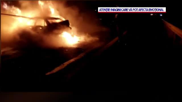 Orbit de furie, un bărbat s-a îmbătat și i-a incendiat mașina unei vecine, în Tuzla